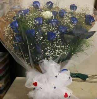 Mavi güllerden kız isteme buket çiçeği  Ankara çiçek servisi , çiçekçi adresleri