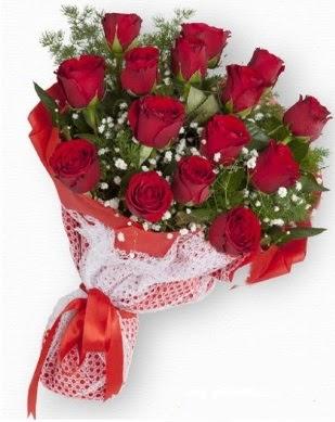 15 adet kırmızı gülden kız isteme buketi  Ankara çiçekçi telefonları