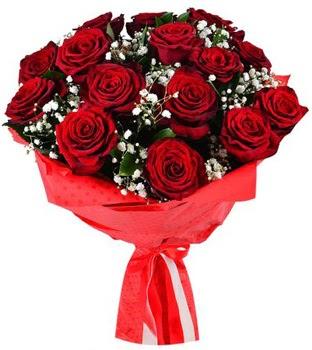 Kız isteme çiçeği buketi 17 adet kırmızı gül  Ankaraya çiçek yolla