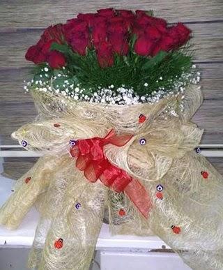 41 adet kırmızı gülden kız isteme buketi  Ankara hediye sevgilime hediye çiçek