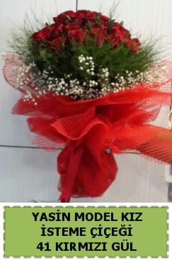 41 Adet kırmızı gül kız isteme çiçeği  Ankara İnternetten çiçek siparişi