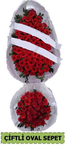 Çift katlı oval düğün nikah açılış çiçeği  Ankara İnternetten çiçek siparişi