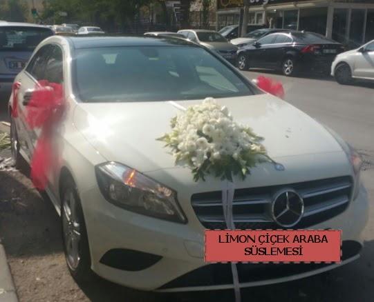 Araba süslemesi gelin arabası süsleme modeli  Ankara çiçek , çiçekçi , çiçekçilik