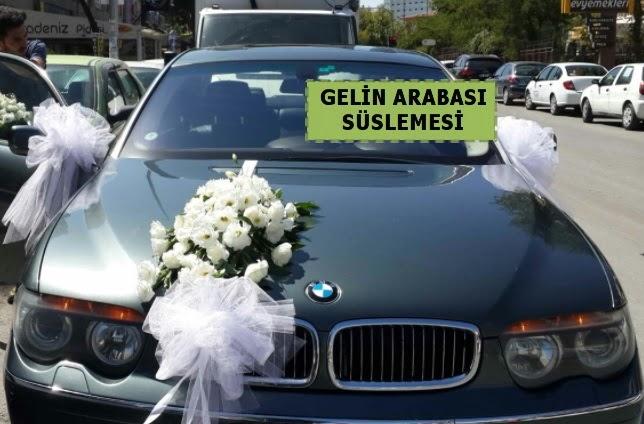 Gelin Arabası süslemesi Düğün arabası  Ankara çiçek gönderme