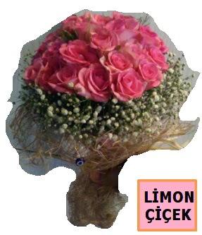 Pembe gül kız isteme söz nişan çiçeği  Ankara çiçekçi telefonları