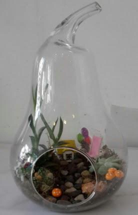 Orta boy cam armut terrarium  Ankara çiçek , çiçekçi , çiçekçilik