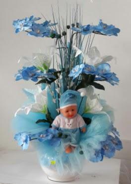 Mavi cam bebekli bebek doğum çiçeği  Ankara çiçek , çiçekçi , çiçekçilik
