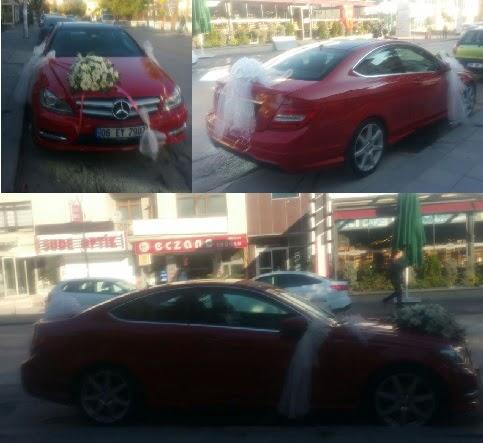 Gelin arabası süslemesi Düğün araba süs  Ankaraya çiçek yolla