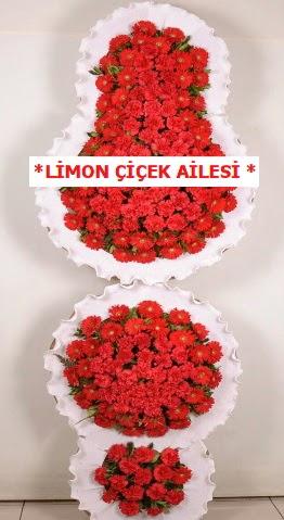 3 katlı kırmızı düğün açılış çiçeği  Ankara çiçekçi telefonları