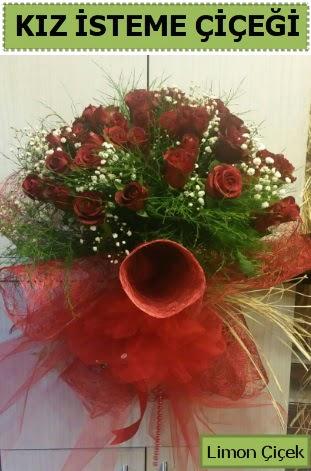 41 adet kırmızı gülden kız isteme buketi  Ankara çiçek , çiçekçi , çiçekçilik