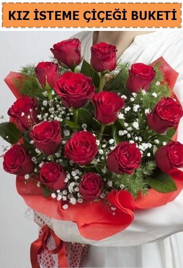 Kız isteme buketi çiçeği 17 gül  Ankaraya çiçek yolla