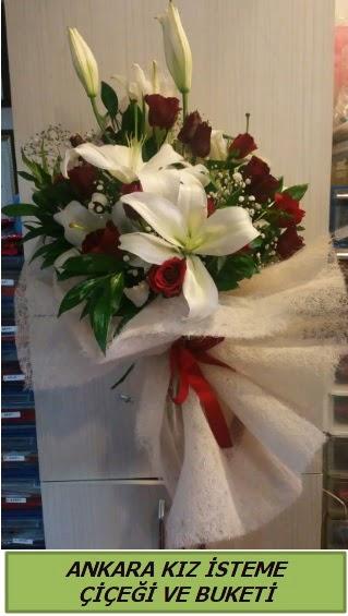 Kız isteme buketi çiçeği modelleri  Ankara çiçek gönderme