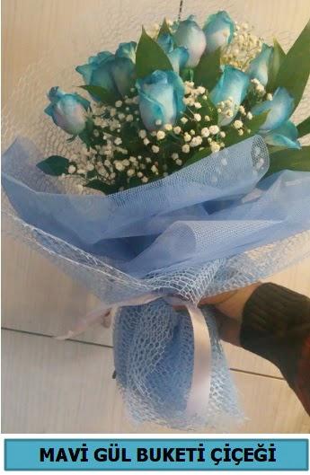 12 adet mavi gülden mavi buket  Ankaraya çiçek yolla