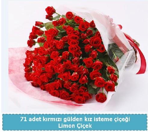 41 adet kırmızı gül kız isteme buketi  Ankaraya çiçek yolla