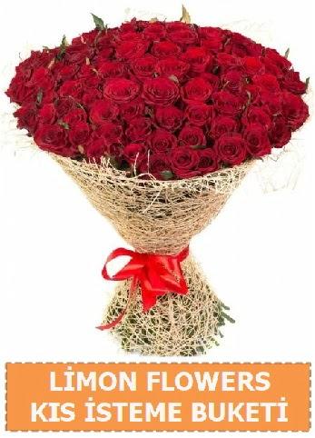 Kız isteme çiçeği modeli 61 adet gül  Ankara çiçekçi telefonları