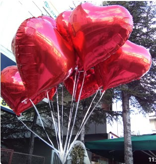 8 adet folyo kalp uçan balon  Ankara çiçek satışı