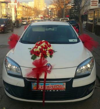 Araba süslemesi gelin arabası  Ankara ucuz çiçek gönder