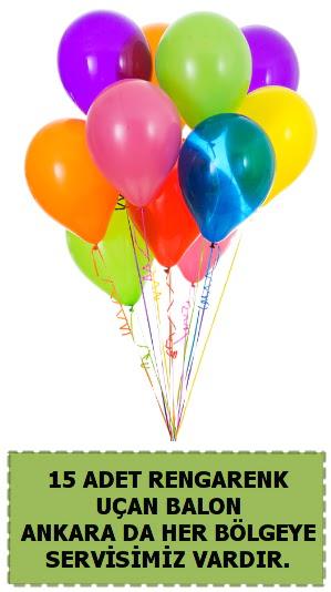 15 adet uçan balon rengarenk  Ankara çiçek , çiçekçi , çiçekçilik