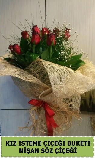 19 adet gülden kız isteme nişan çiçeği  Ankara hediye sevgilime hediye çiçek