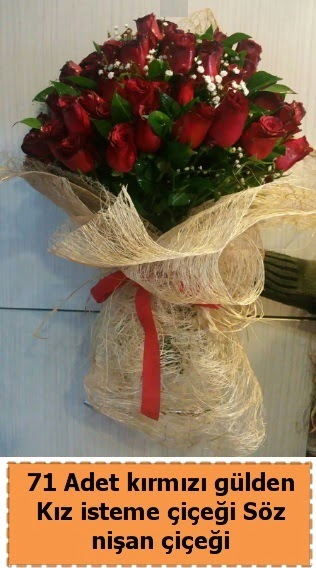 71 adet kırmızı gül söz nişan çiçeği  Ankara çiçek , çiçekçi , çiçekçilik