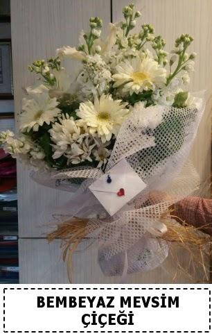 Bembeyaz görsel mevsim çiçek buketi  Ankara çiçek gönderme