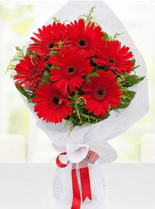 Kırmızı Gelbera Buketi  Ankara çiçek servisi , çiçekçi adresleri