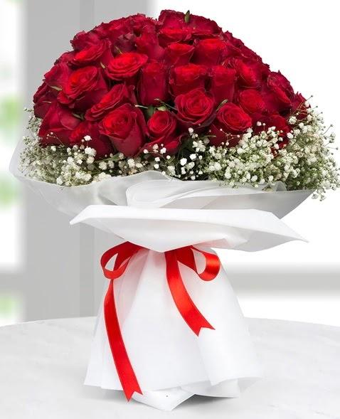 41 adet kırmızı gül buketi  Ankara çiçek , çiçekçi , çiçekçilik  süper görüntü
