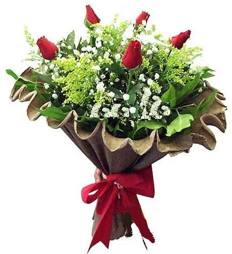 5 adet gülden buket  Ankara İnternetten çiçek siparişi