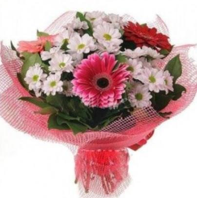 Gerbera ve kır çiçekleri buketi  Ankara çiçek servisi , çiçekçi adresleri