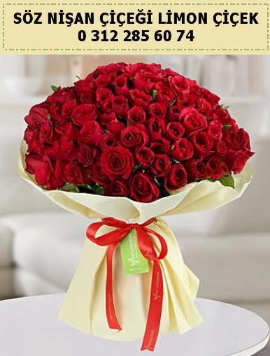 51 adet kırmızı gül söz nişan buketi çiçeği  Ankara anneler günü çiçek yolla