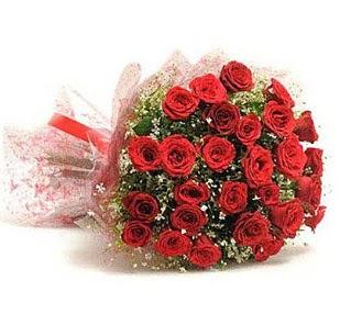 27 Adet kırmızı gül buketi  Ankara çiçek satışı