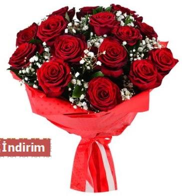 12 Adet kırmızı aşk gülleri  Ankara çiçek , çiçekçi , çiçekçilik