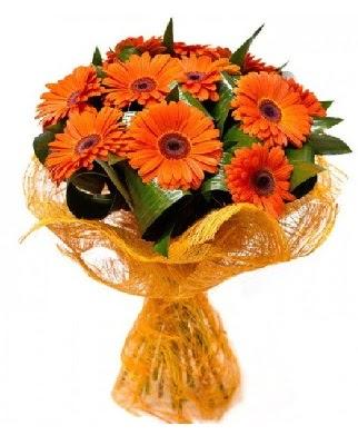 11 adet turuncu gerbera buketi  Ankara çiçek online çiçek siparişi