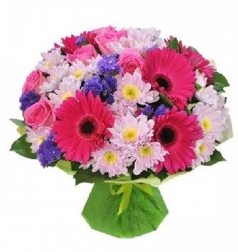 Karışık mevsim buketi mevsimsel buket  Ankara çiçek , çiçekçi , çiçekçilik