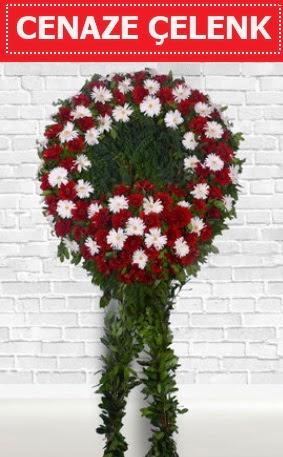 Kırmızı Beyaz Çelenk Cenaze çiçeği  Ankarada çiçek gönderme sitemiz güvenlidir