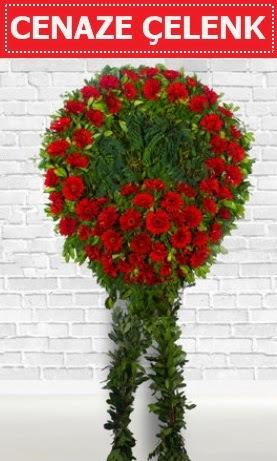 Kırmızı Çelenk Cenaze çiçeği  Ankarada çiçek gönderme sitemiz güvenlidir