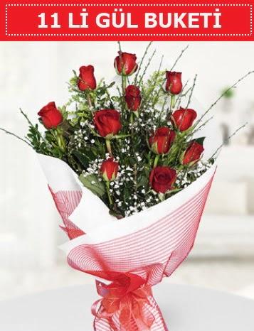 11 adet kırmızı gül buketi Aşk budur  Ankara İnternetten çiçek siparişi