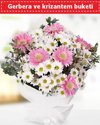 Papatya ve Gerbera Buketi  Ankara ucuz çiçek gönder