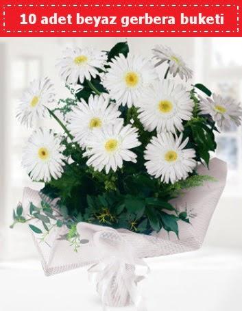 10 Adet beyaz gerbera buketi  Ankara ucuz çiçek gönder