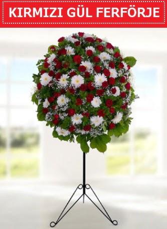 Kırmızı gül ferförje 40 adet gül ve gerbera  Ankara çiçek gönderme
