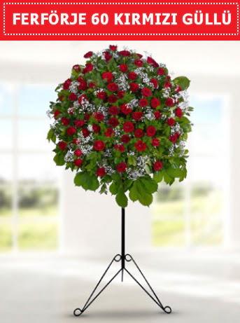 60 Adet kırmızı gülden ferförje  Ankara çiçek satışı