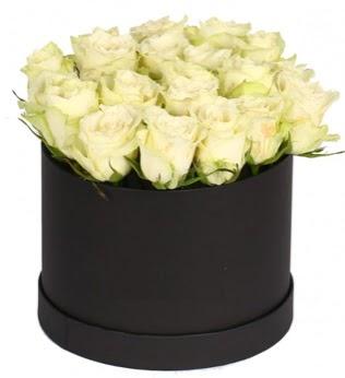 19 adet beyaz gülden görsel kutu çiçeği  Ankara anneler günü çiçek yolla