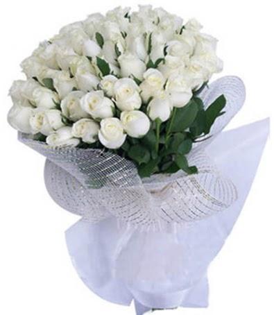 41 adet beyaz gülden kız isteme buketi  Ankara anneler günü çiçek yolla