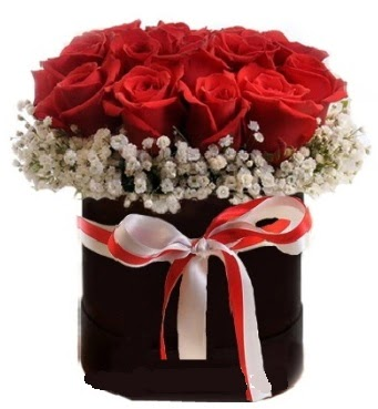Siyah kutuda 23 adet kırmızı gül tanzimi  Ankara İnternetten çiçek siparişi