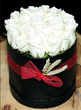 Özel kutuda 27 adet beyaz gül  Ankara yurtiçi ve yurtdışı çiçek siparişi