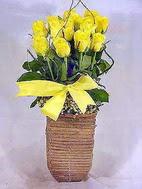 Ankara cicekciler , cicek siparisi  sicak ates çiçek sepet modeli