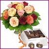 Ankara çiçek servisi , çiçekçi adresleri  Renkli Güller ve çikolata